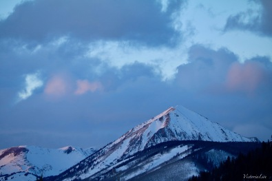 Sunset over Gothic Mountain, Colorado. Victoria Lise 2017