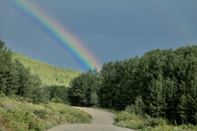Rainbow Over a Colorado Dirt Road. ©Victoria Lise