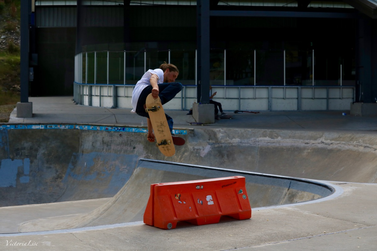 Alex T gets air on the skateboard. ©Victoria Lise