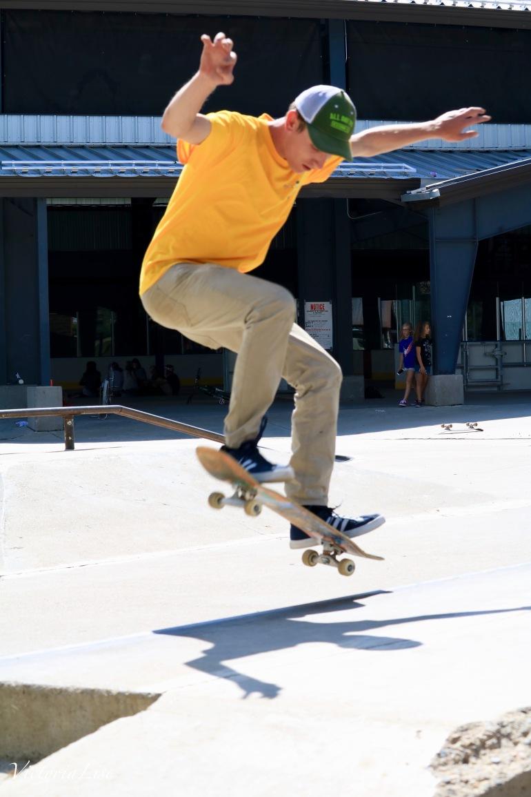 Skate Tricks and Skate Shadows. ©Victoria Lise 2017