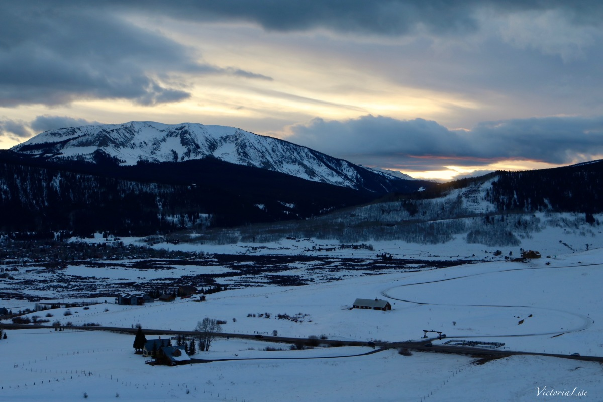Mt. Axtell stands about the cozy town of Crested Butte. ©Victoria Lise