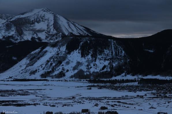 Dark winter sky above Whetstone Mountain, Colorado. ©Victoria Lise