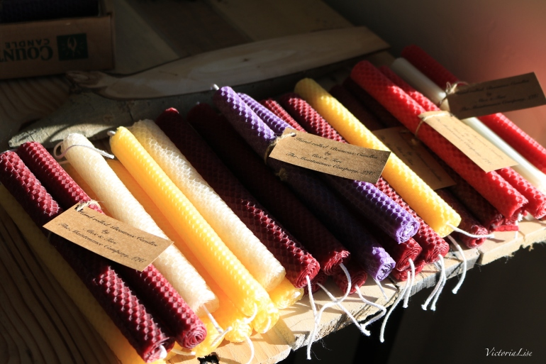 Hand-rolled beeswax candles that give back by Victoria Lise