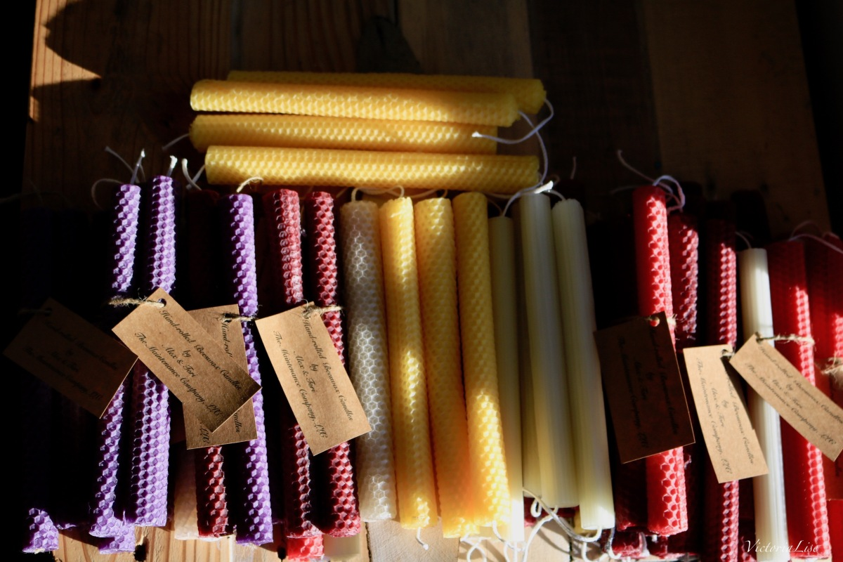 Hand-rolled Beeswax Candle Assortment by Victoria Lise