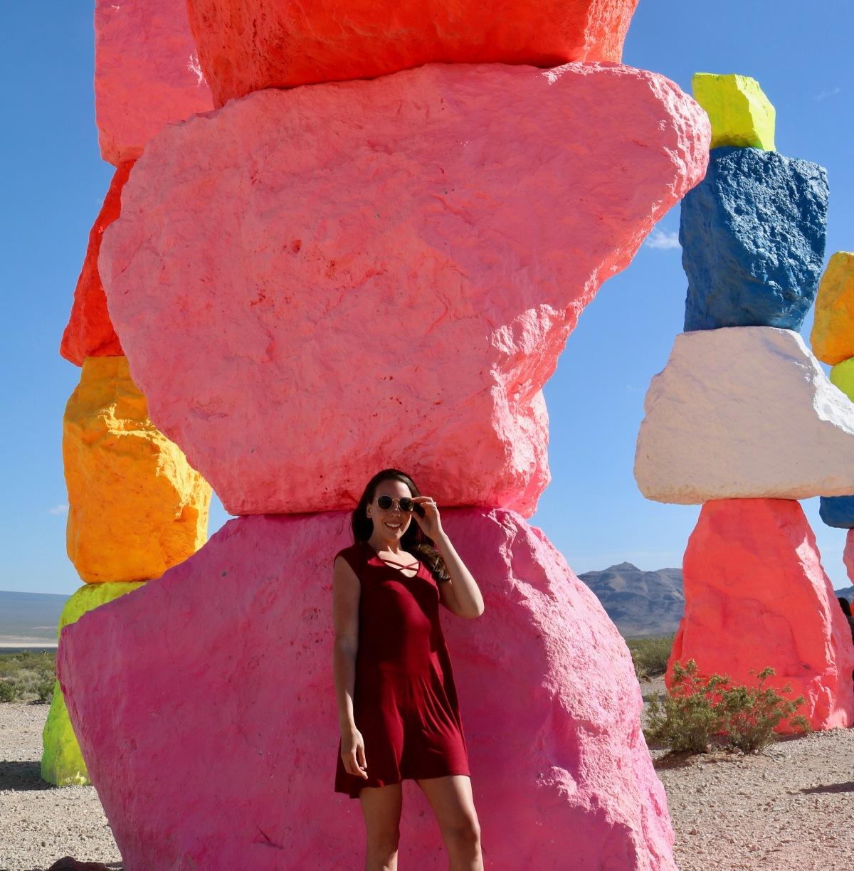 Victoria Lis @ Seven Magic Mountains, Nevada.