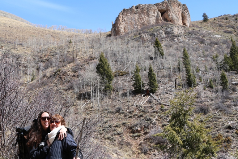 Victoria Lise hiking with her mom. West Colorado.