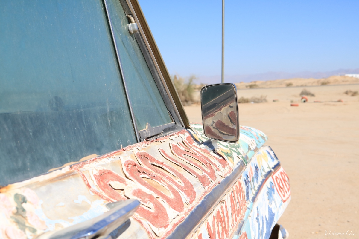 Painted vehicle at Salvation Mountain. ©Victoria Lise 2018.