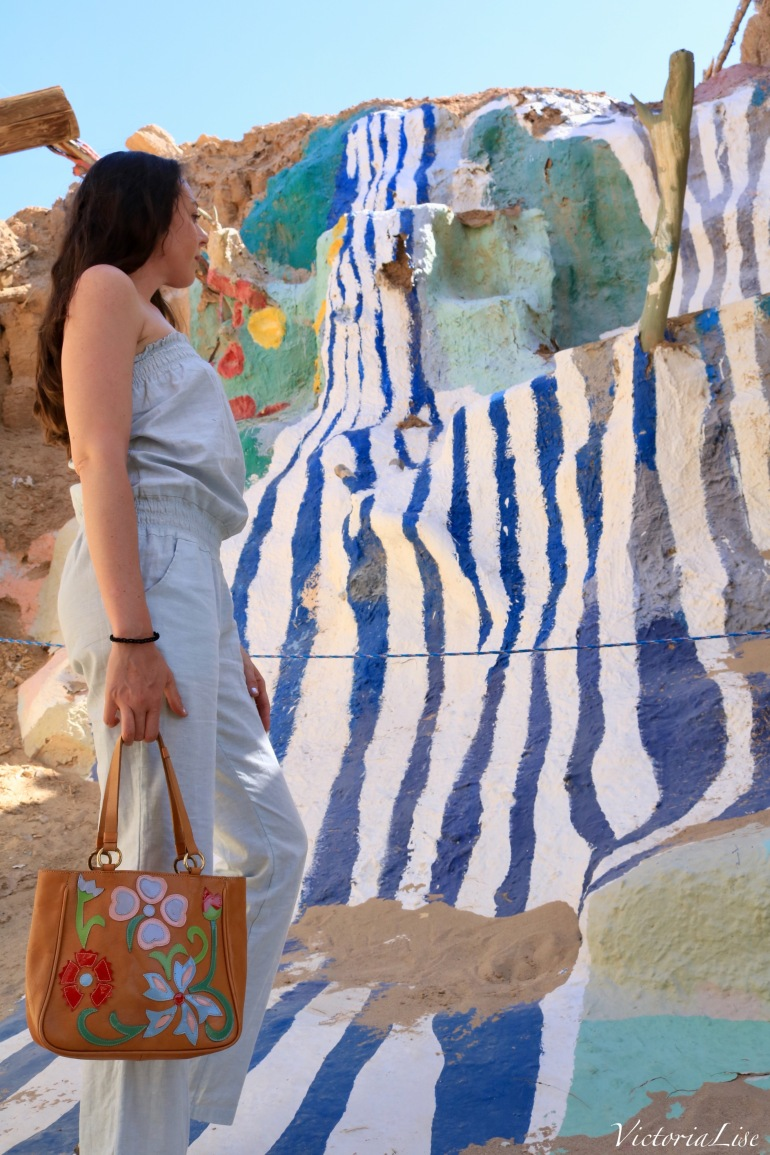 Victoria Lise with the Sea of Galilee, Salvation Mountain.
