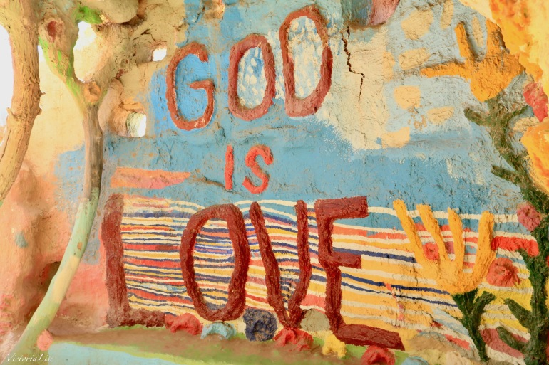 God Is Love, Leonard Knight's Life message. ©Victoria Lise 2018.