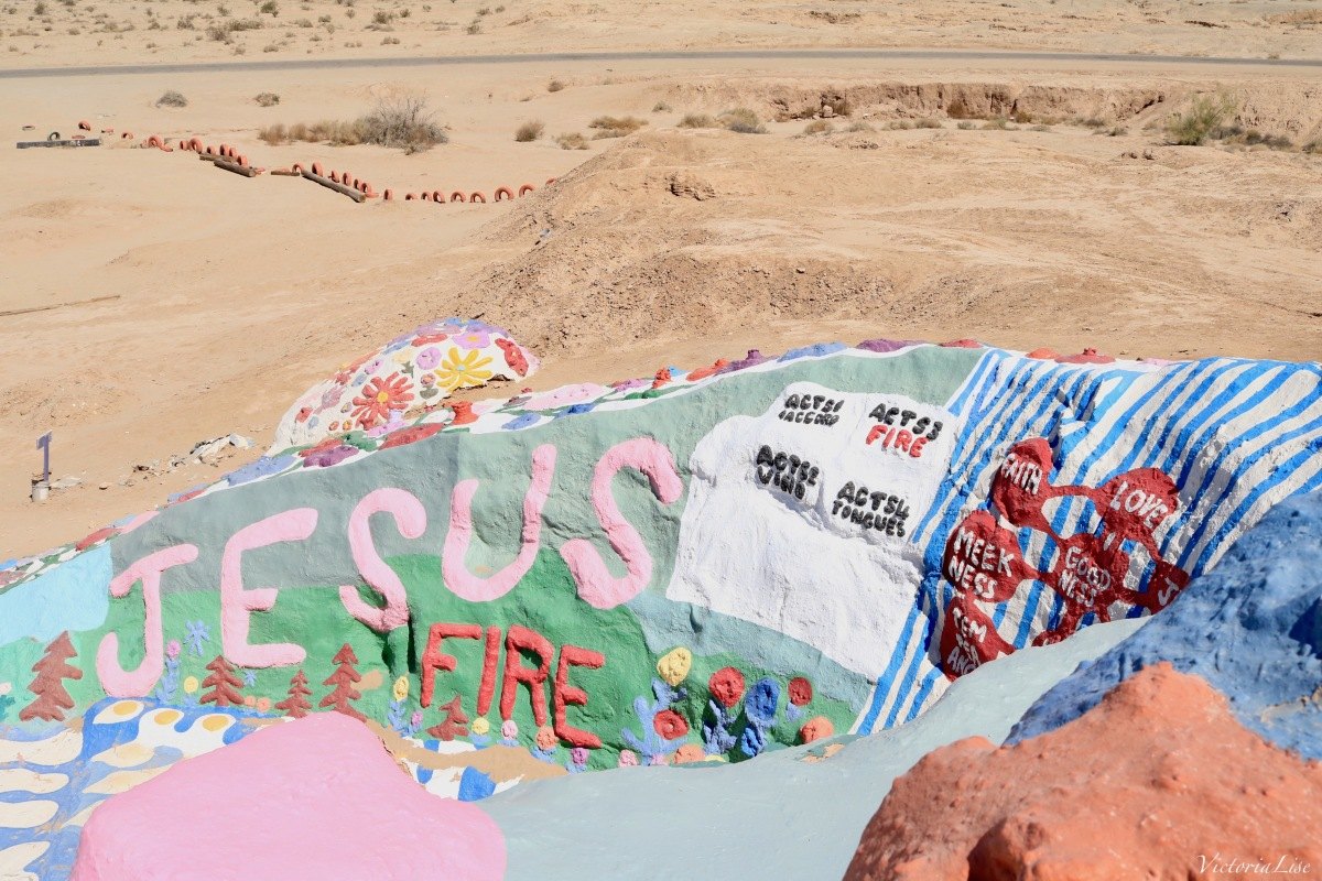 Salvation Mountain from the Top. ©Victoria Lise 2018.