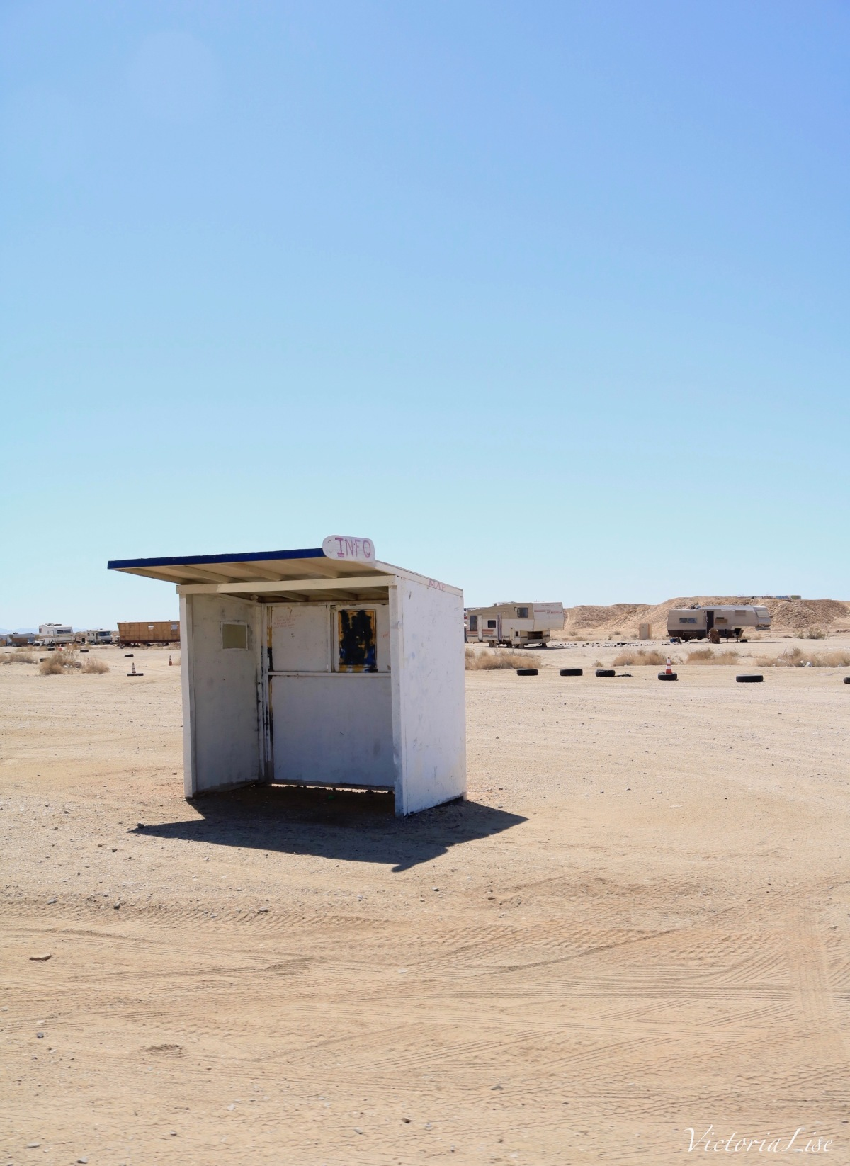 Slab City Info Booth, California. ©Victoria Lise 2018.