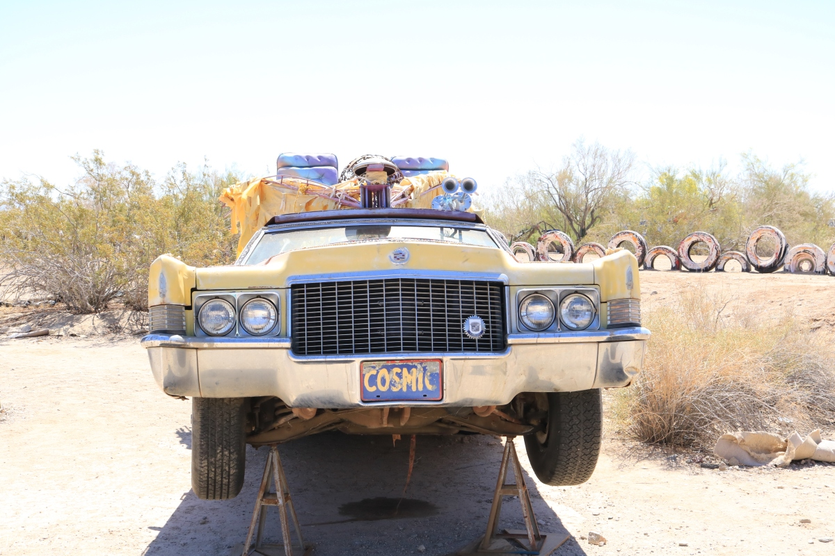 East Jesus. Slab City Cosmic Cruiser. ©Victoria Lise 2018.