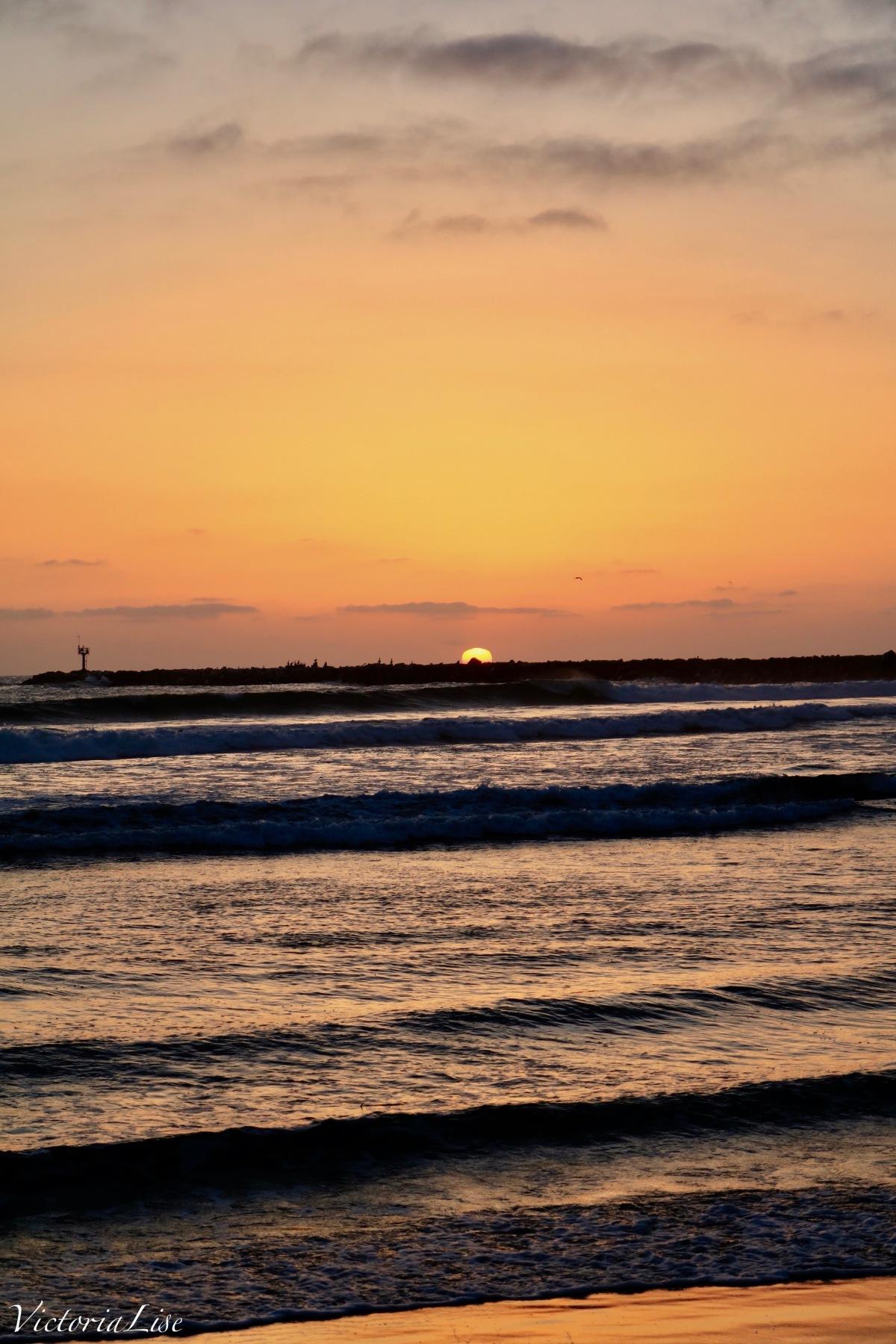 Sunset over Ocean Beach. San Diego, California. ©Victoria Lise 2018.