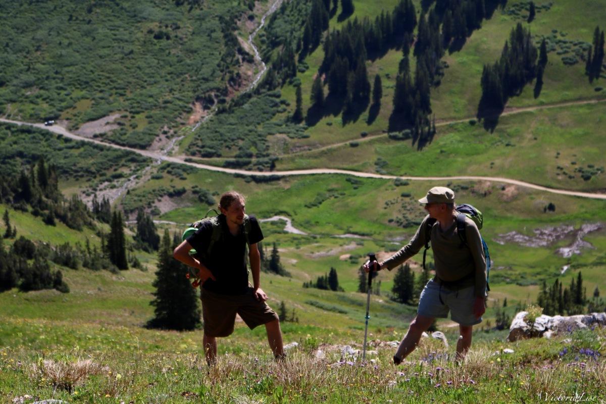 Conversations between hikers in Colorado. ©Victoria Lise 2018.