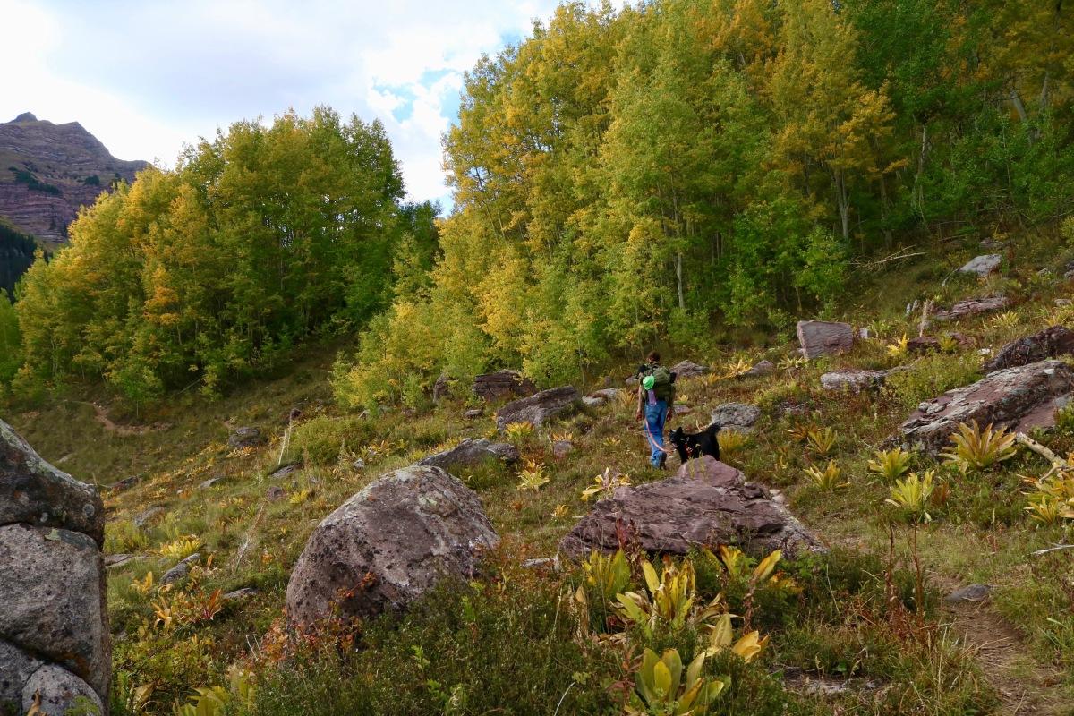 Hiking through early fall foliage. Colorado. ©Victoria Lise